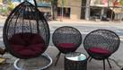 Ghế xích đu, bàn ghế ban công mây giả nhựa (ảnh 6)