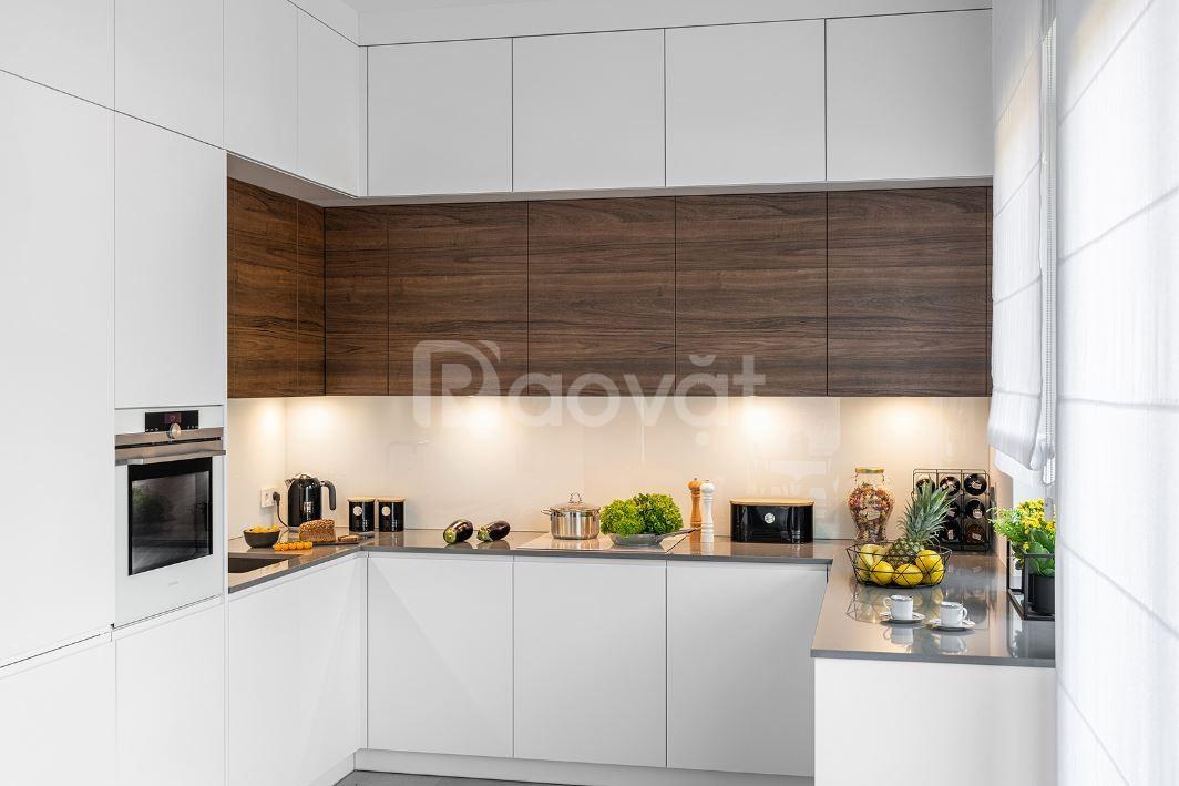 Tủ bếp gỗ giá rẻ thủ đức   Mẫu tủ bếp gỗ đẹp hiện đại