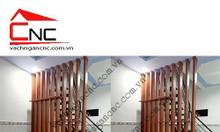 Thanh lam gỗ cầu thang - vách ngăn phòng khách đẹp