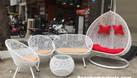 Ghế xích đu, bàn ghế ban công mây giả nhựa (ảnh 7)