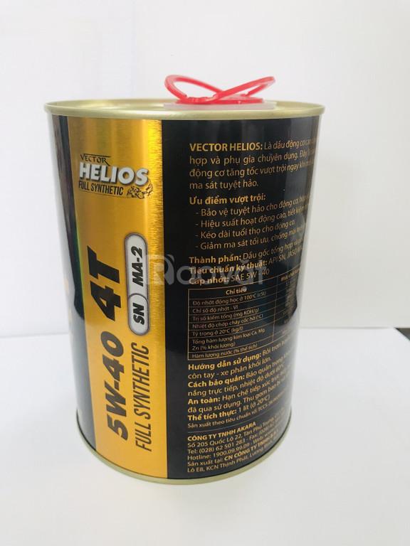 Dầu nhớt tổng hợp VECTOR HELIOS full synthetic SN/5W40 tìm đại lý
