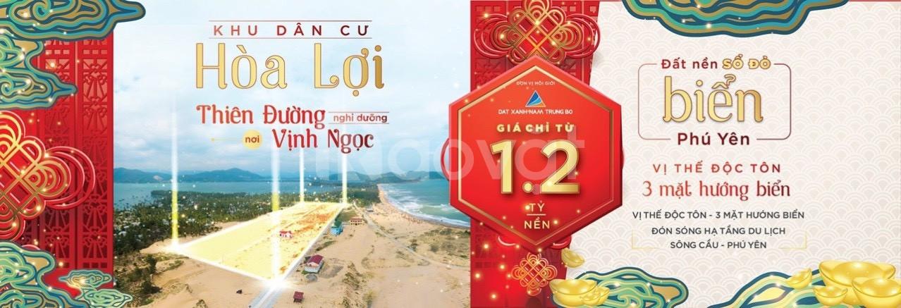 Đầu tư ngay đất nền, sổ đỏ trực diện Biển Phú Yên- giá tốt