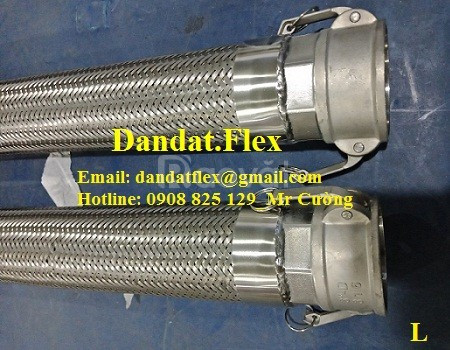 Khớp nối nhanh bằng inox chịu nhiệt cao, ống mềm cho nhà máy thép