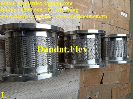 Khớp nối mềm mặt bích thép, khớp nối chống rung inox, ống nối mềm inox