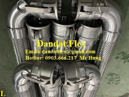 Khớp nối nhanh inox cho nhà máy thép, Khớp nối mềm đầu AD inox 304