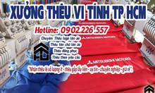 Xưởng thêu vi tính tên, logo đồng phục áo thun tại TPHCM