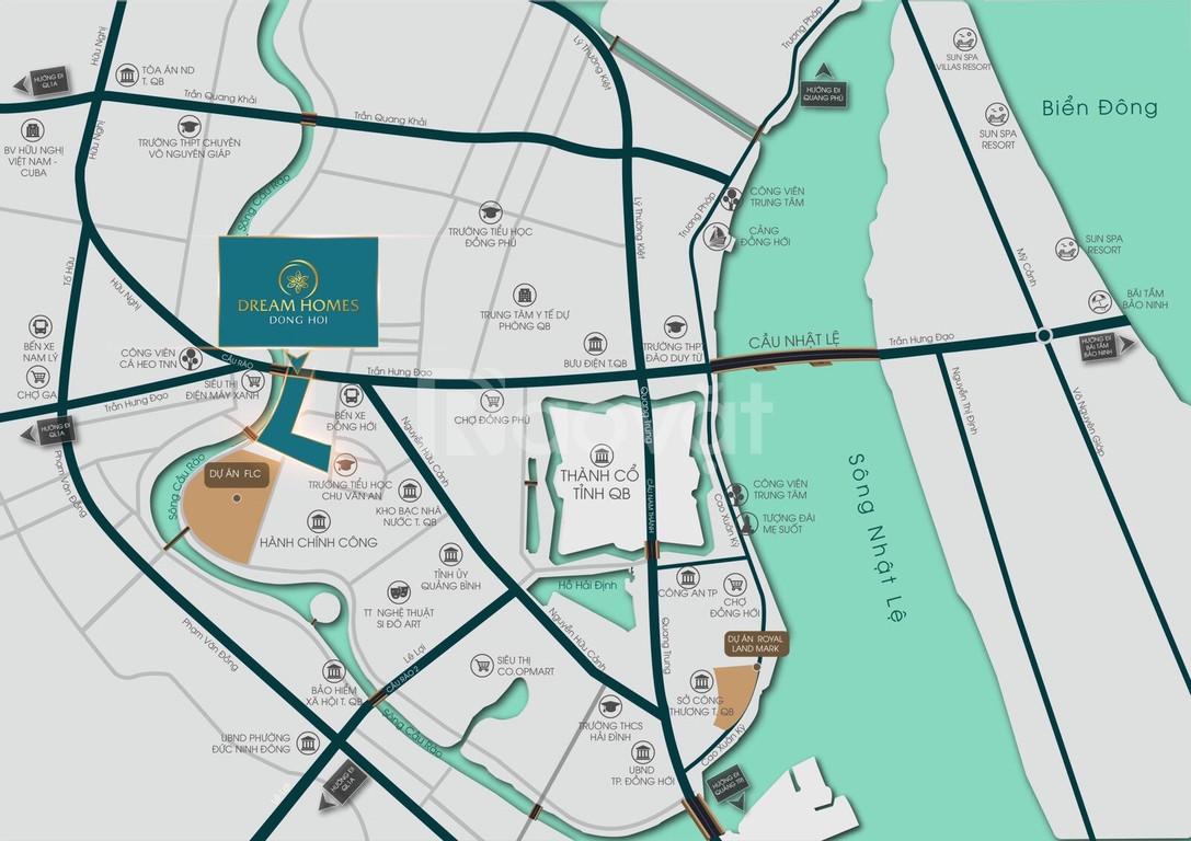 Đất nền trung tâm thành phố Đồng Hới