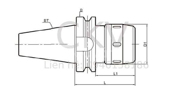 Đầu kẹp BT50/Vật tư máy phay cnc (ảnh 1)