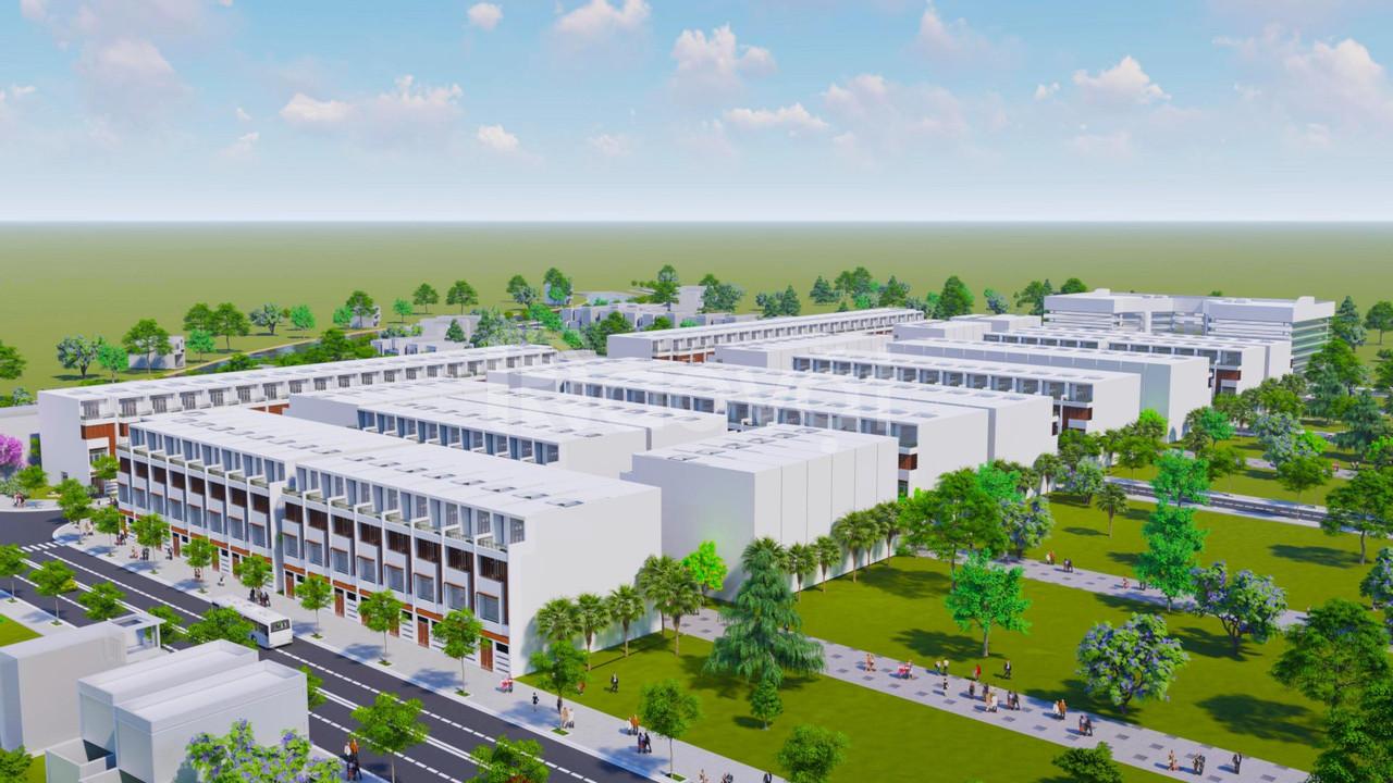 Đất nền dựa án Bình Chánh New Center mặt tiền Hoàng Phan Thái, 26tr/m2