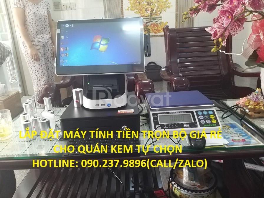 Bán máy tính tiền giá rẻ cho quán kem tự chọn tại Bình Dương