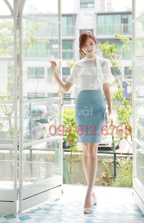 Công ty may chân váy nữ công sở thời trang, thiết kế cao cấp