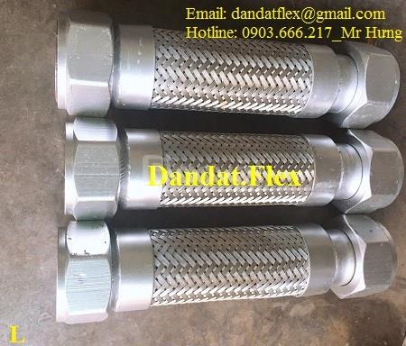 Ống dẫn hơi nóng loại nối ren (uns), ống mềm inox lắp ren