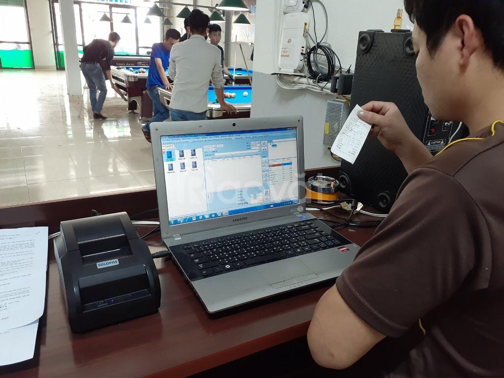 Phần mềm tính tiền + máy in bill giá rẻ cho CLB Bida tại Hà Tĩnh