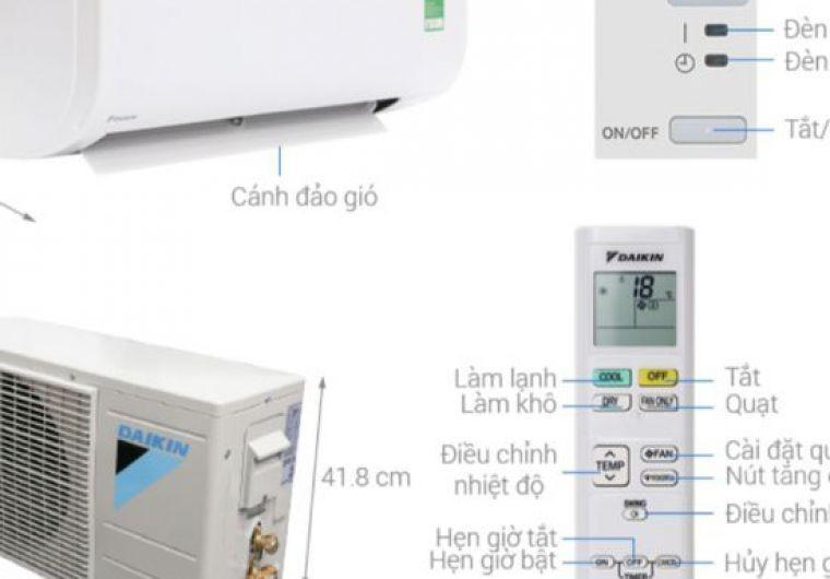 Bán và thi công lắp đặt máy lạnh treo tường Daikin FTC25NV1