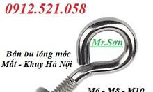 Bu lông móc treo inox 304,Bu lông móc treo thép mạ M12,M10,M8,M6.
