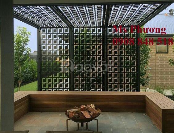 Tấm Panel trang trí cho sân vườn thêm lung linh