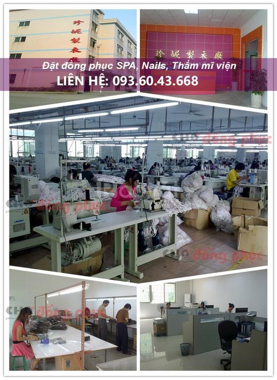 Xưởng may đồng phục spa, đồng phục nails giá rẻ