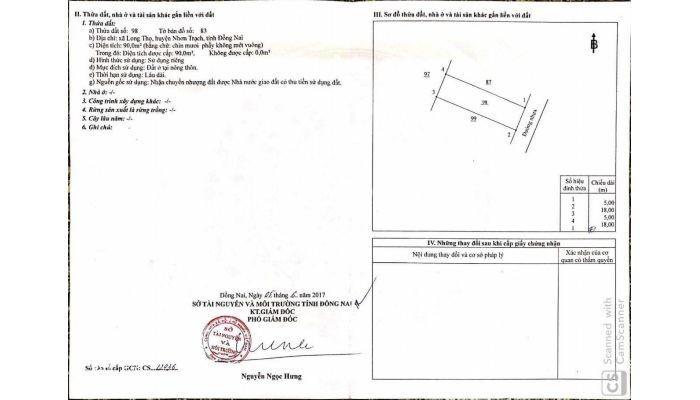 Cần bán lô đăt nền dự án Hud Mặt Tiền Đường 25 M Xã Long Thọ
