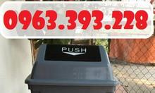 Thùng rác 60L nắp lật, thùng rác nhựa HDPE, thùng rác 60L Push