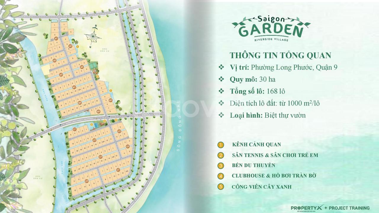 Saigon Garden Riverside Villas – biệt thự vườn nghỉ dưỡng quận 9