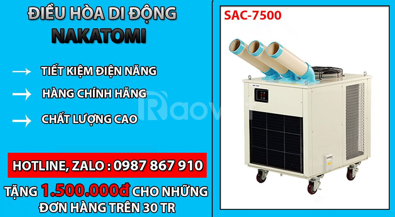 Bán máy lạnh Nakatomi SAC 7500 chính hãng giá rẻ