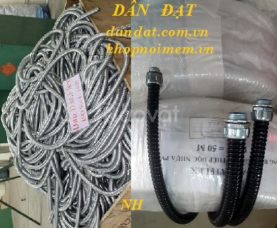 Bộ ống thép luồn dây điện, ống ruột gà bọc nhựa pvc, ống bọc dây điện