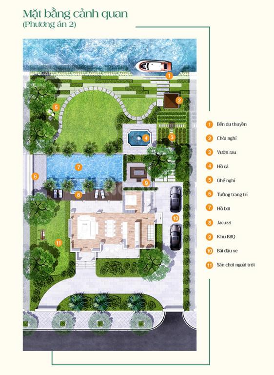 Saigon Garden Riverside Villas - mô hình biệt thự vườn