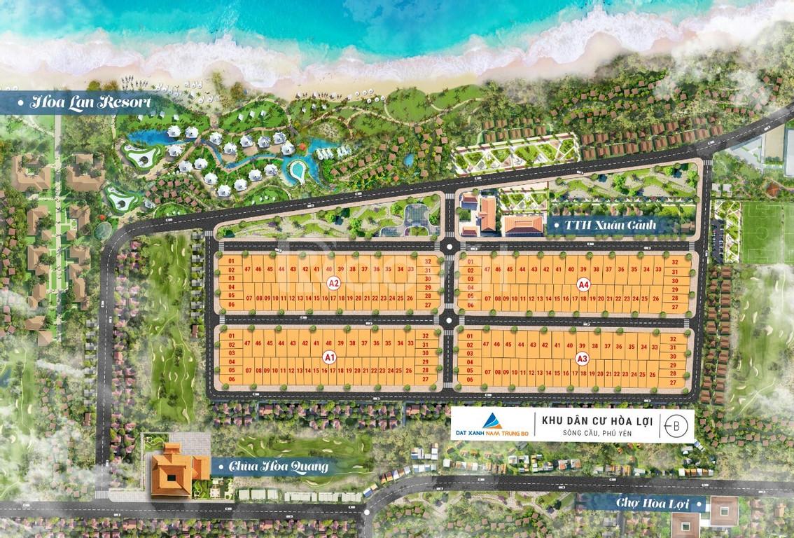 Đất biển Hòa Lợi Phú Yên chỉ 7,5tr/m2 đối diện resort