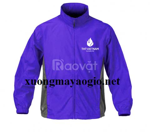 May gia công áo khoác gió đồng phục quà tặng công ty