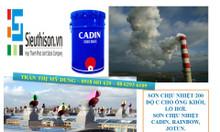 Đại lý cung cấp sơn chịu nhiệt 600 độ C màu nhũ bạc chịu nhiệt Cadin.