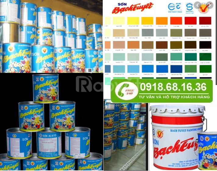 Tìm địa chỉ bán sơn dầu Bạch tuyết màu đỏ 344 giá rẻ tại Bình Dương