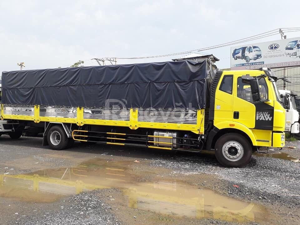 Xe tải 8 tấn, xe tải Faw thùng dài 9m7, chuyên chở hàng quá khổ