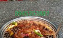 Bếp nướng than hoa âm bàn không khói hút dương