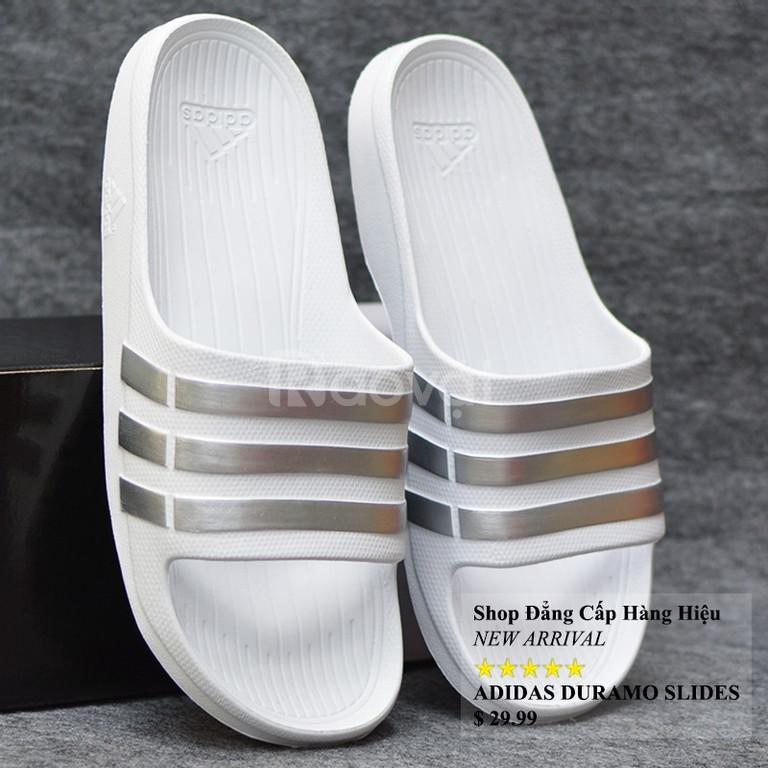 Adidas Duramo màu trắng sọc bạc