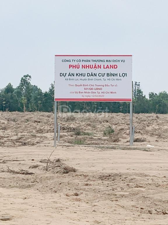 Bán đất giá rẻ ở Bình Lợi Bình Chánh chỉ có 15 triệu m2