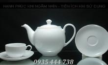 Ấm chén bát tràng, in logo thương hiệu bộ ly tách Quảng Nam
