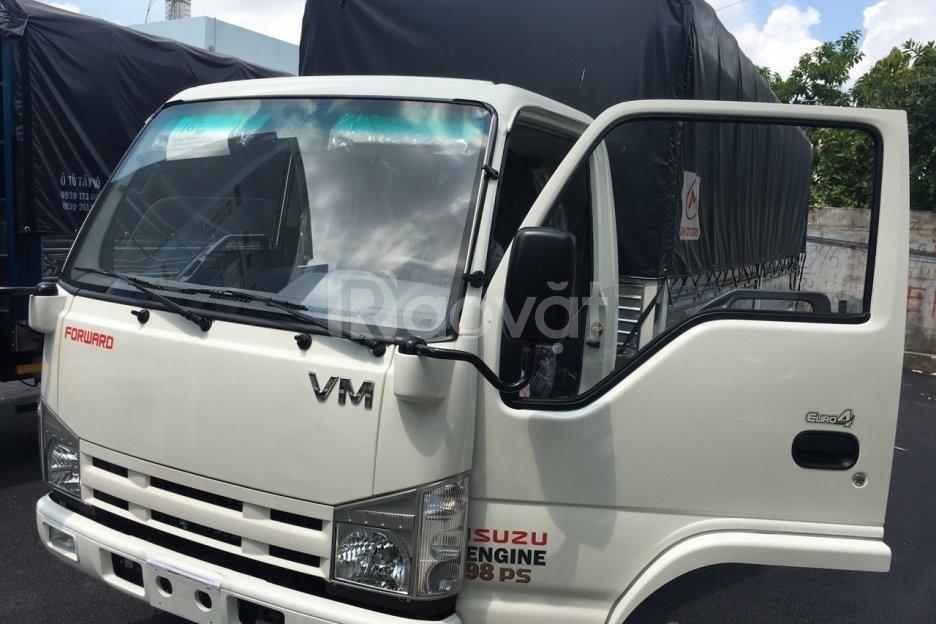 Bán xe tải isuzu 1.9 tấn thùng bạt 6.2 mét thùng chở pallet