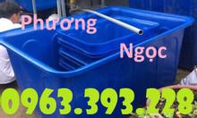 Thùng nhựa nuôi thủy hải sản, thùng nhựa công nghiệp màu xanh