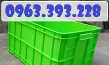 Thùng nhựa công nghiệp, hộp nhựa có nắp cao 31, thùng nhựa HS019