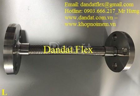 Báo giá khớp nối chống rung mặt bích 114, khớp nối mềm inox nối bích