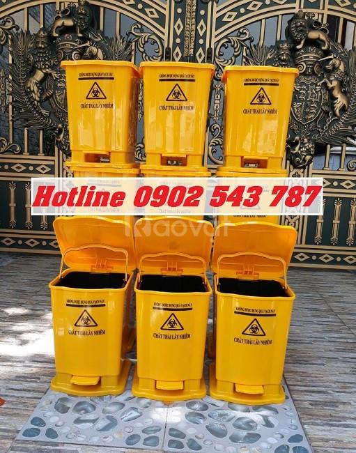 Thùng rác y tế 15l màu vàng (ảnh 5)