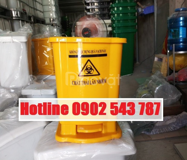 Thùng rác y tế 15l màu vàng (ảnh 8)