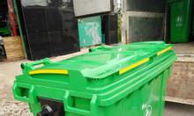 Xe thu gom rác 660L, thùng rác công cộng 660l HDPE