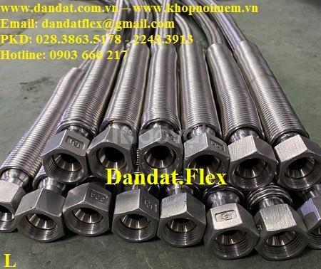 Khớp nối inox lắp ren, ống nối mềm inox kết nối ren, khớp nối mềm 304