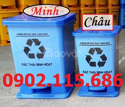 Thùng rác y tế đạp chân, thùng rác y tế, thùng rác đạp chân,