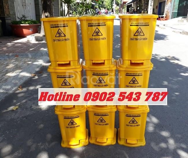 Thùng rác y tế 15l màu vàng (ảnh 1)