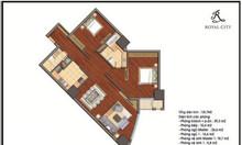 Căn hộ 3 phòng ngủ 130m2 đủ đồ chỉ 4.8 tỷ tại Vinhomes Royal city HN