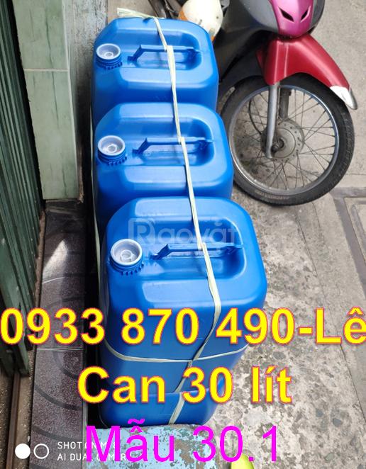 Can nhựa đựng dung môi, can nhựa 30 lít đựng hóa chất, can nhựa 25 lit
