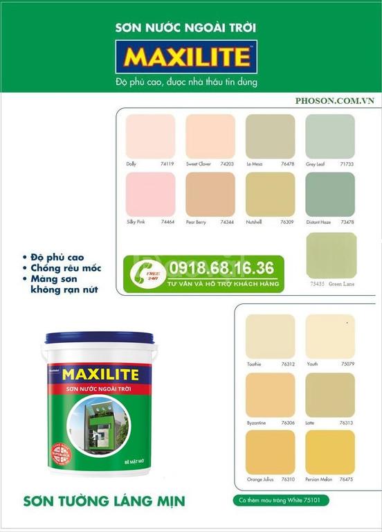 Bán sơn ngoại thất maxilite chính hãng giá rẻ tại tphcm
