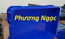 Thùng nhựa đặc cao 10, thùng nhựa có nắp, thùng nhựa HS025